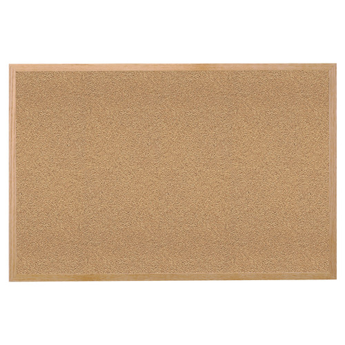 Ghent Ghent Premium Natural Cork Bulletin Board with Wood Frame