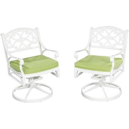 Home Styles Biscayne Swivel Chair White Walmart Com