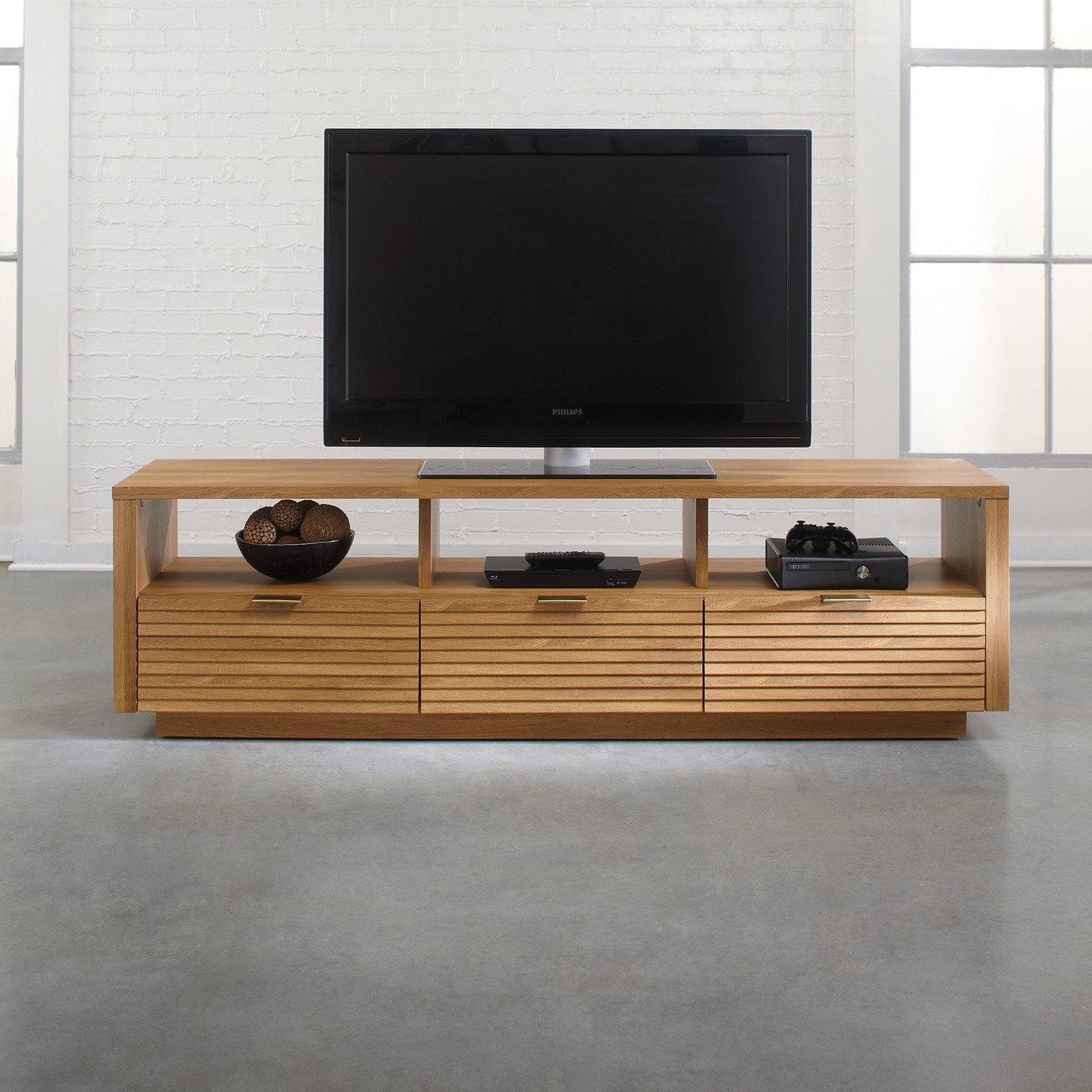 Unique Sauder Soft Modern Entertainment Credenza - Pale Oak - Walmart.com GX03