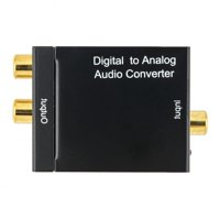 Digital Optical Coax to Analog RCA L/R Audio Converter Adapter with Fiber Cable & USB Cable & Mainframe
