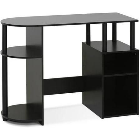 Furinno JAYA Simplistic Computer Study Desk with Bin Drawers, Espresso
