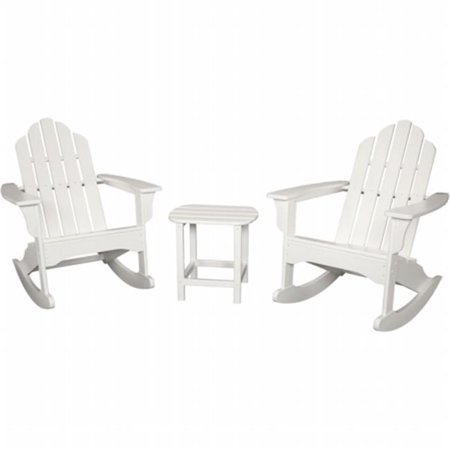 Strange All Weather 3 Piece Adirondack Rocking Chair Set White Pdpeps Interior Chair Design Pdpepsorg