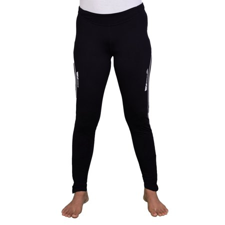 Women Elite Design Fall Winter Thermal Running Tights Long Pants With Ankle Zipper and Reflective