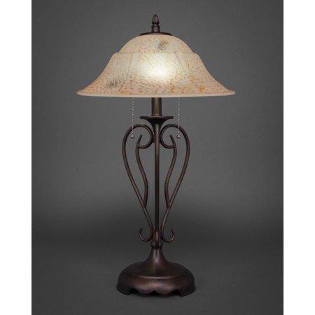 Italian Iron Two Light (Toltec Lighting-42-BRZ-53618-Olde Iron - Two Light Table Lamp)