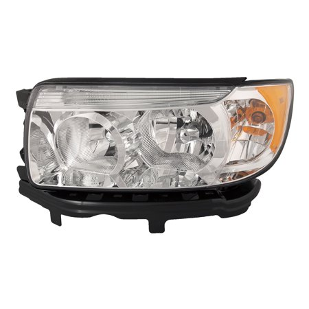 2006-2008 Subaru Forester 2007-2008 Forester w/o Sport Package New Driver Side Headlight Left Headlamp Assembly SU2502119