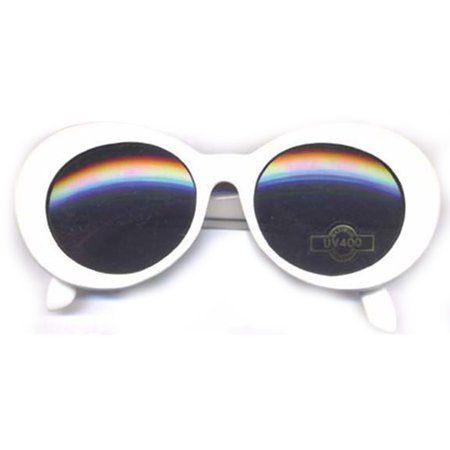 Kurt Cobain White Round Sunglasses - Coffin Glasses