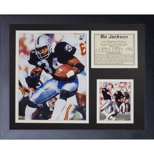 Legends Never Die Oakland Raiders Bo Jackson Home Framed Memorabili