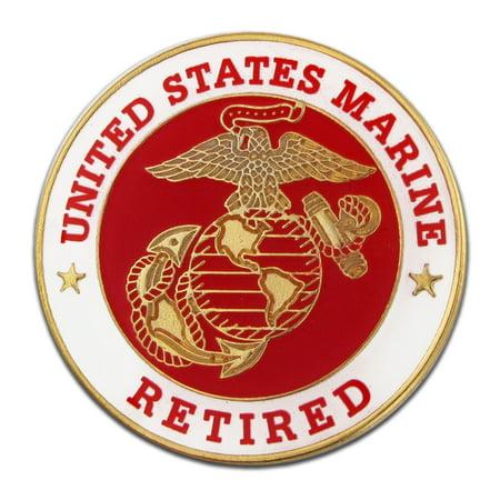 U.S. Marine Corps Retired Military Enamel Lapel Pin