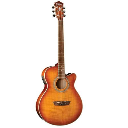 washburn festival mini jumbo acoustic electric guitar. Black Bedroom Furniture Sets. Home Design Ideas