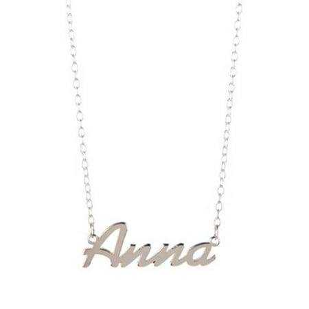 Gigi and Leela SP328 Sterling Silver Necklace - Angela Nameplate - image 1 of 1