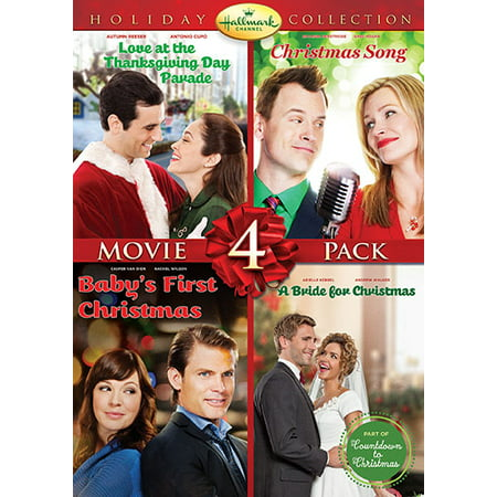 Hallmark Holiday Collection 4  Love At The Thanksgiving Day Parade   Christmas Song   Babys First Christmas   Bride For Christmas  Dvd