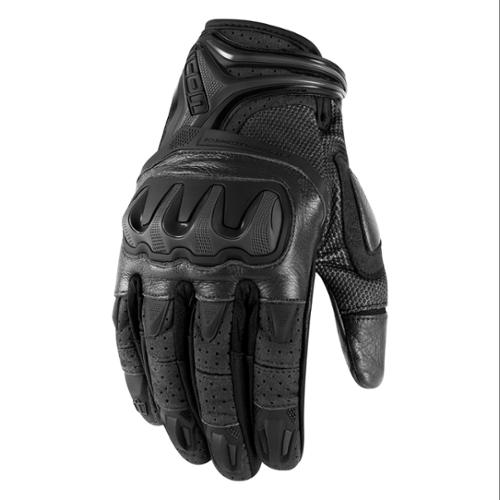 Icon Overlord Resistance Short Gloves Stealth/Black