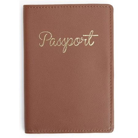 0f4f4fc3fdf7 Royce Leather Chic RFID Blocking Passport Document Holder in Tan