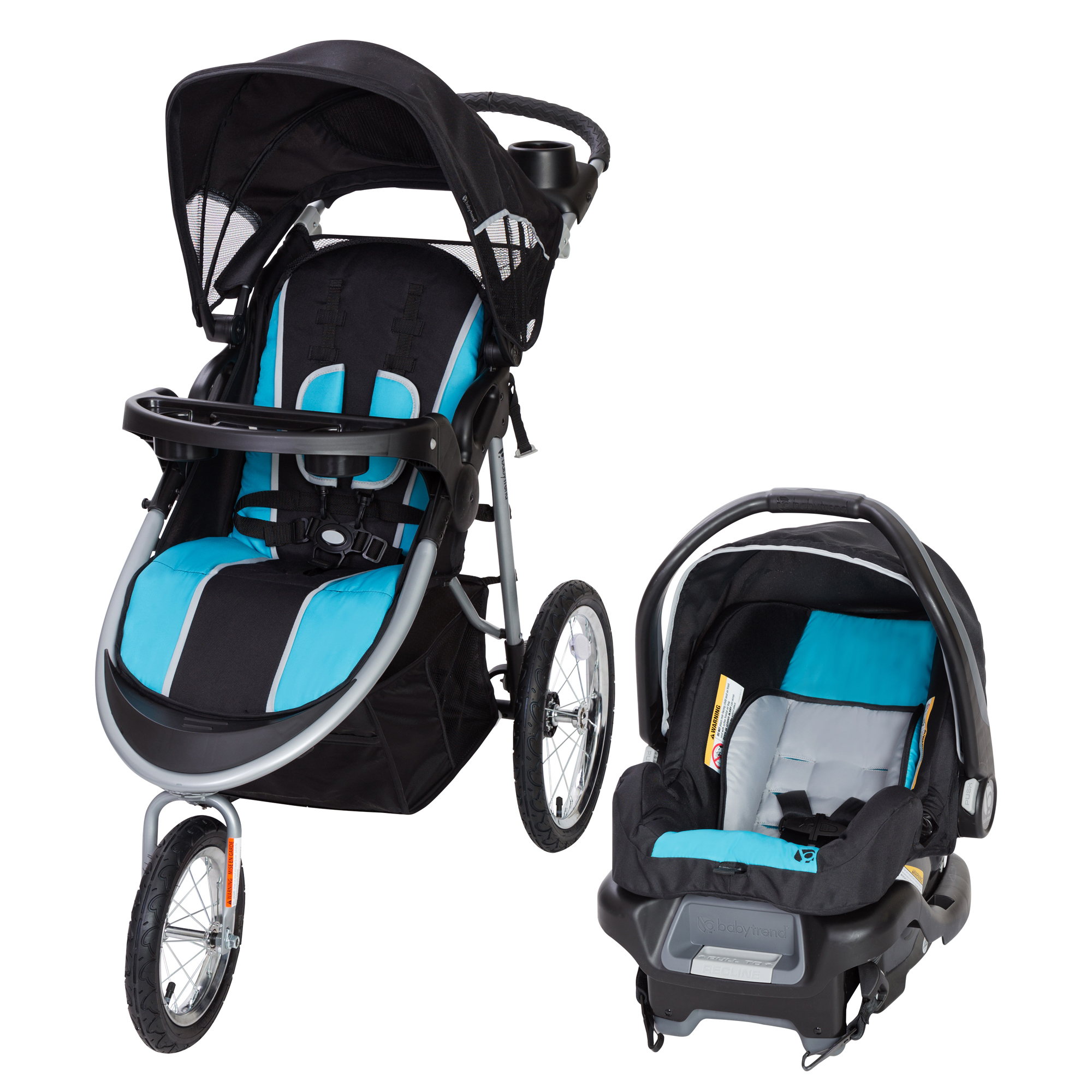 Baby Trend Pathway 35 Jogger Travel System-Optic Aqua by Baby Trend
