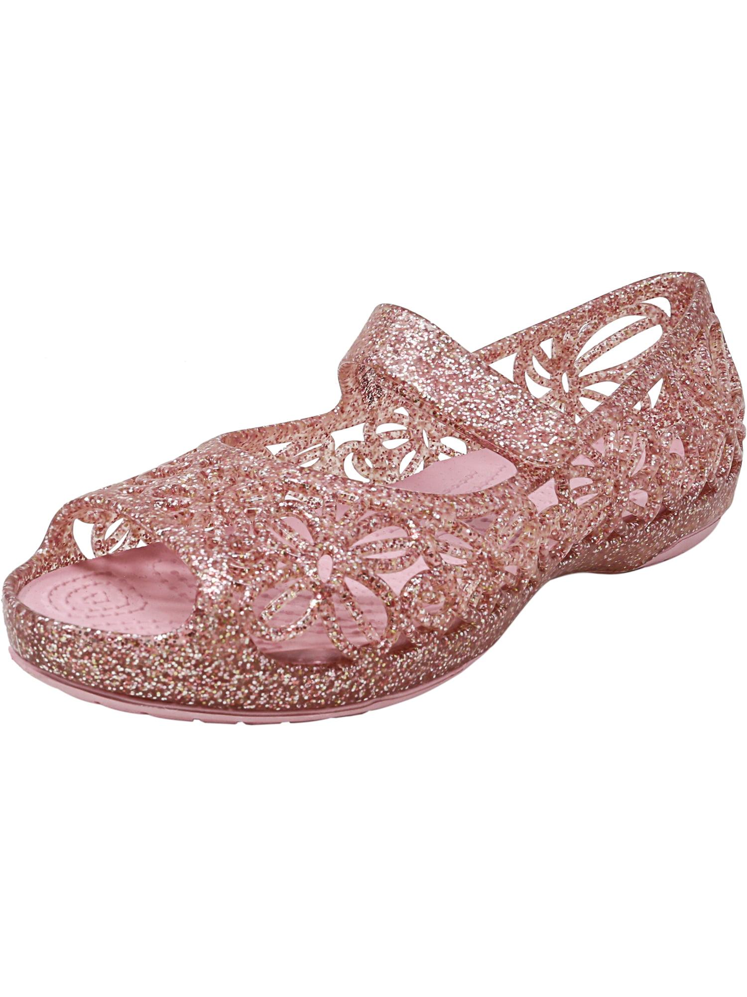 7b67cd1fa81a Crocs Isabella Glitter Flat Fuchsia   Candy Pink Ankle-High Shoe - 7M