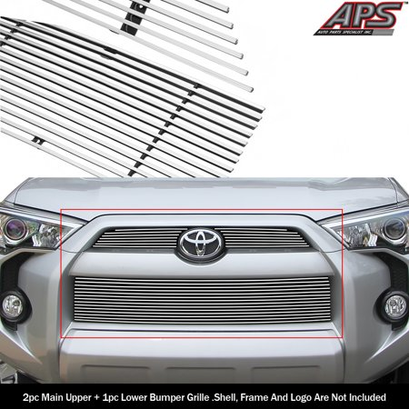 Compatible with 2014-2019 Toyota 4Runner Reg Model Billet Grille Combo T61278A