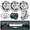 """Marine Audio Bundle Package - JVC KDX33MBS Boat Yacht Radio Stereo Receiver Combo With 4x JVC CS-DR6201MW 300-Watt 6.5  2-Way Coaxial Speakers + Radio Antenna + 50 Foot Speaker Wire Marine Audio Bundle Package - JVC KDX33MBS Boat Yacht Radio Stereo Receiver Combo With 4x JVC CS-DR6201MW 300-Watt 6.5"""" 2-Way Coaxial Speakers + Radio Antenna + 50 Foot Speaker Wire"""