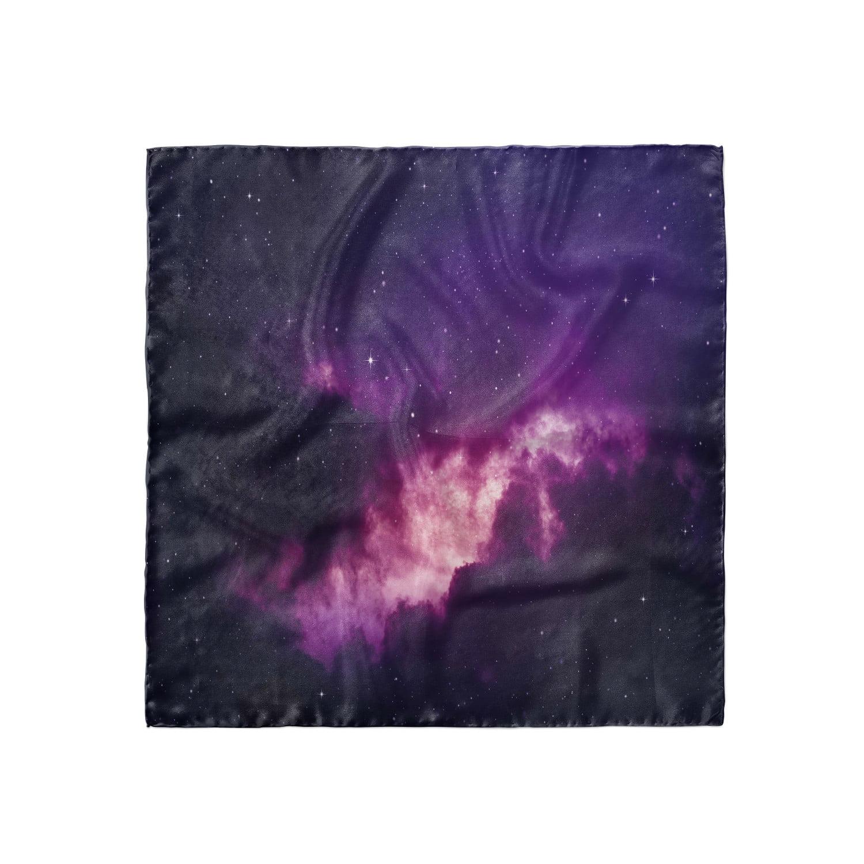 Ambesonne Landscape Headscarf Purple Shade Skies Hijab Scarf