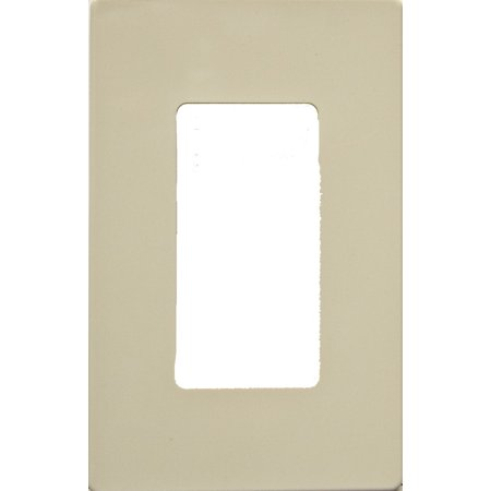 Morris Products 1 Gang Decorator Screwless Snap in Wall Plates in Ivory (Set of 3)