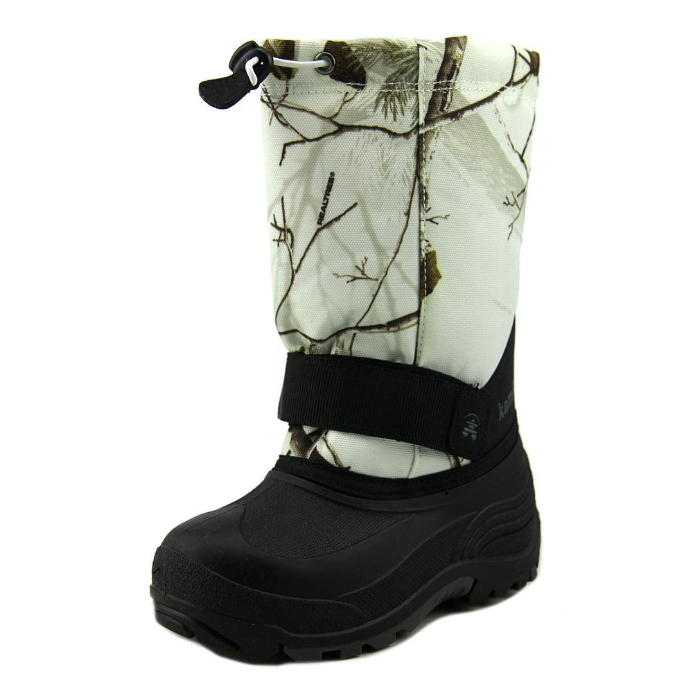 Kamik Board 2 Strap Youth  Round Toe Canvas Multi Color Snow Boot