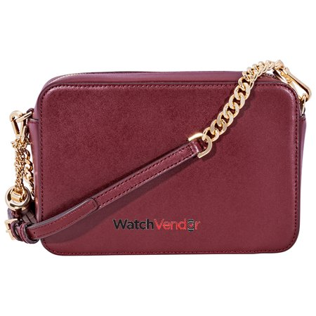 1fdf9724dce9 Michael Kors Ginny Medium Studded Leather Crossbody- Oxblood - image 3 of 4  ...