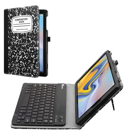 PU Leather Folio Keyboard Case for Samsung Galaxy Tab A 10.5 2018 Model SM-T590/T595 with Bluetooth keyboard