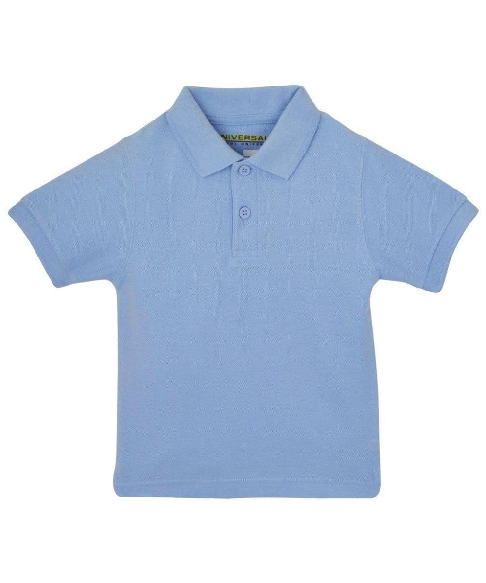 Light Blue Short Sleeve Pique Toddler Unisex Polo Universal School Uniforms