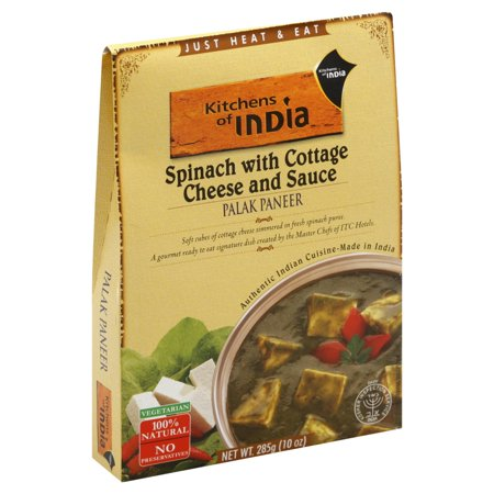 Kitchens of India Ready To Eat Palak Paneer, Spinach With Cottage Cheese, 10 OZ (Pack of