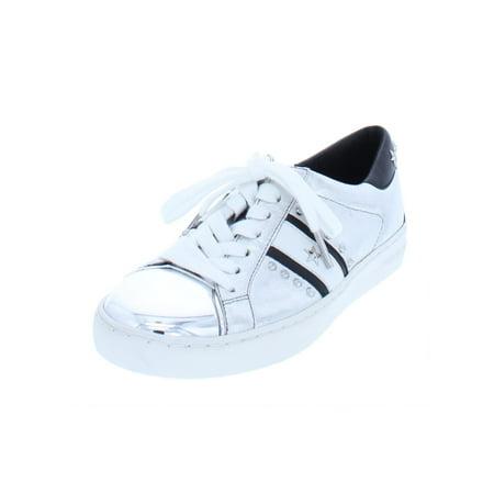 MICHAEL Michael Kors Womens Frankie Leather Metallic Casual Shoes (Michael Kors Frankie)