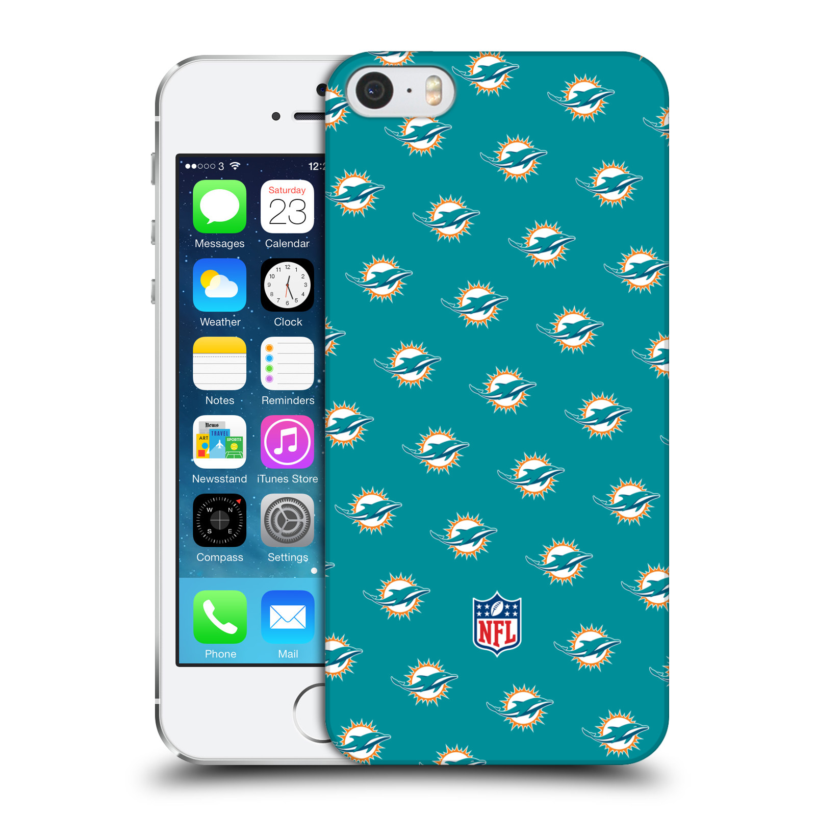 OFFICIAL NFL 2017/18 MIAMI DOLPHINS HARD BACK CASE FOR APPLE IPHONE PHONES