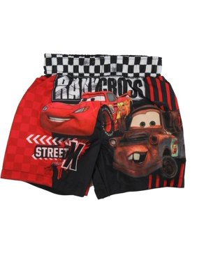 Disney Baby Boys Red Cars Lightning Mcqueen Print Swimwear Shorts