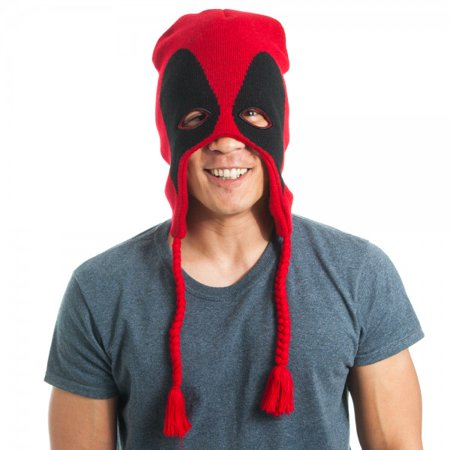 Laplander Beanie Cap - Marvel - Deadpool Mask New Anime Licensed kc19ngmve