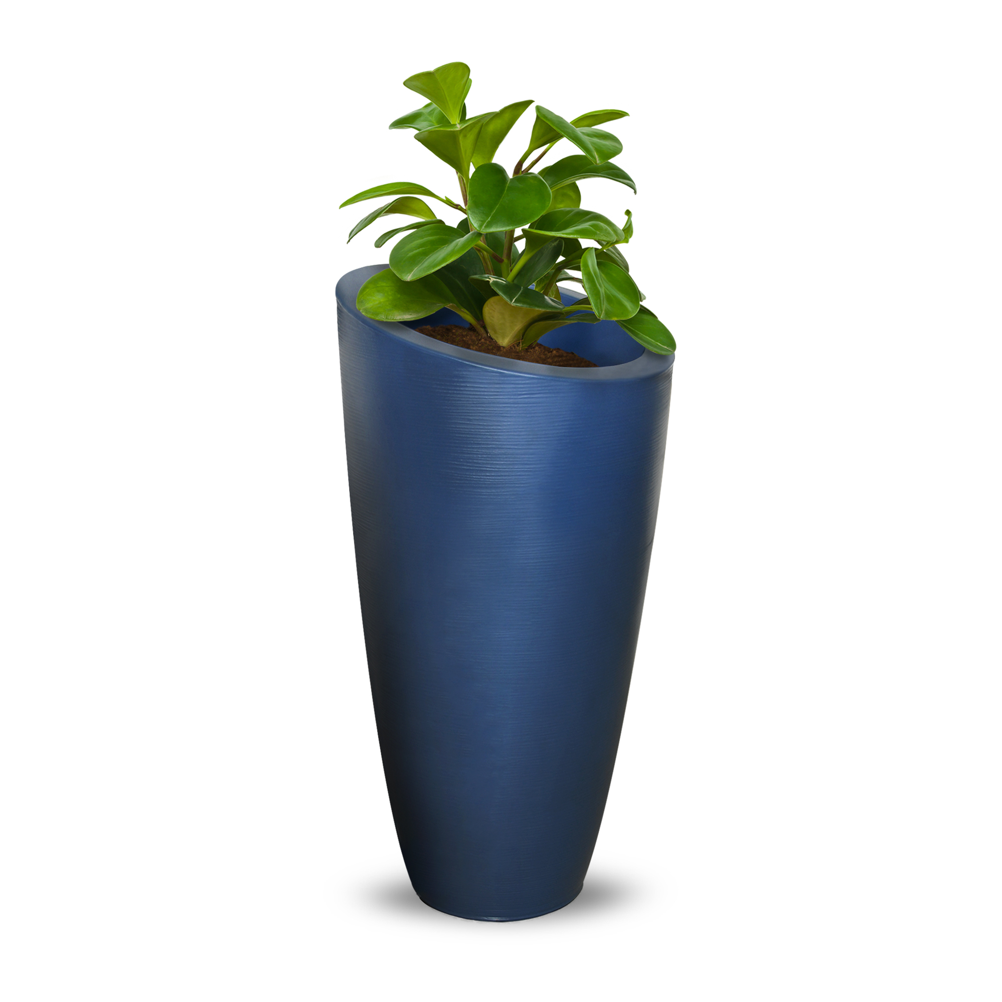 Product Image Modesto 32in Tall Planter   Neptune Blue