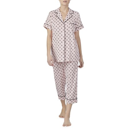 Secret Treasures Women's and Women's Plus Traditional Short Sleeve Notch Collar PJ - Pj & Me