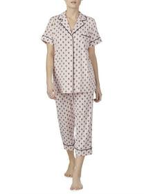 Womens Sleepwear   Loungewear. Secret Treasures Women s and Women s Plus  Traditional Short Sleeve Notch Collar PJ 4d934f1ea