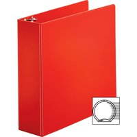 "MyOfficeInnovations Round Ring Binder w/ Pockets 3"" Red 3254449"