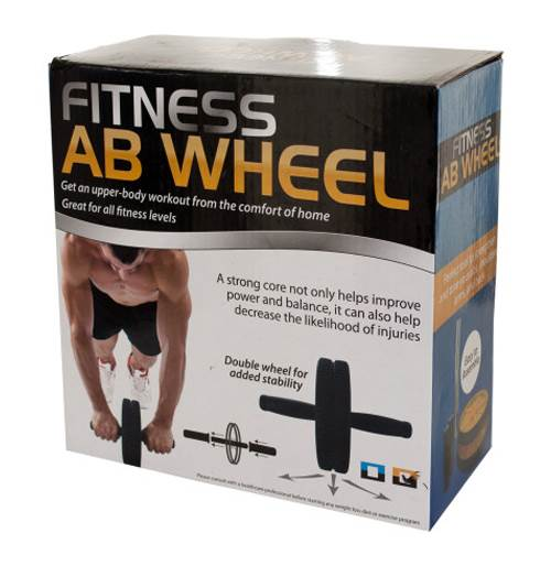 Fitness Abs Wheel in Black