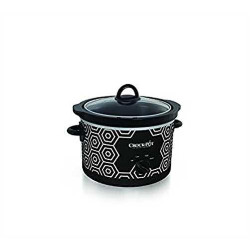 Crockpot SCR450-HX Round Slow Cooker, 4.5 quart, Black & ...