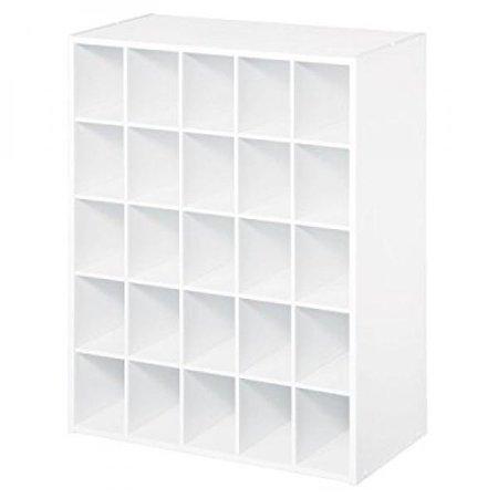 ClosetMaid 8506 25-Cube Organizer, White (Closetmaid 8996 Cubeicals Organizer 6 Cube White)