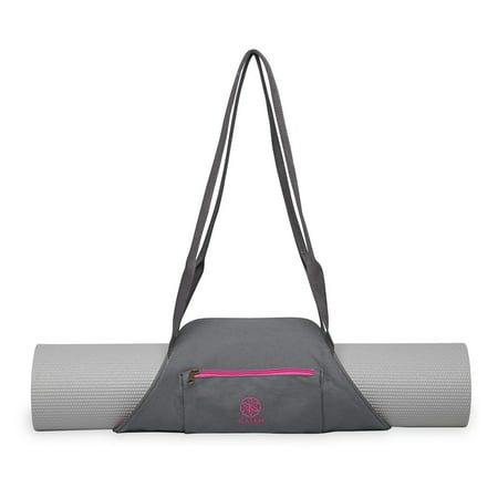 Gaiam On The Go Yoga Mat Carrier Storm Pink