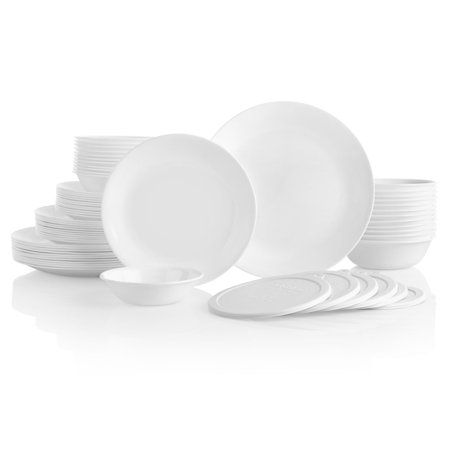 Corelle Livingware 66-Piece Winter Frost White Dinnerware Set ()