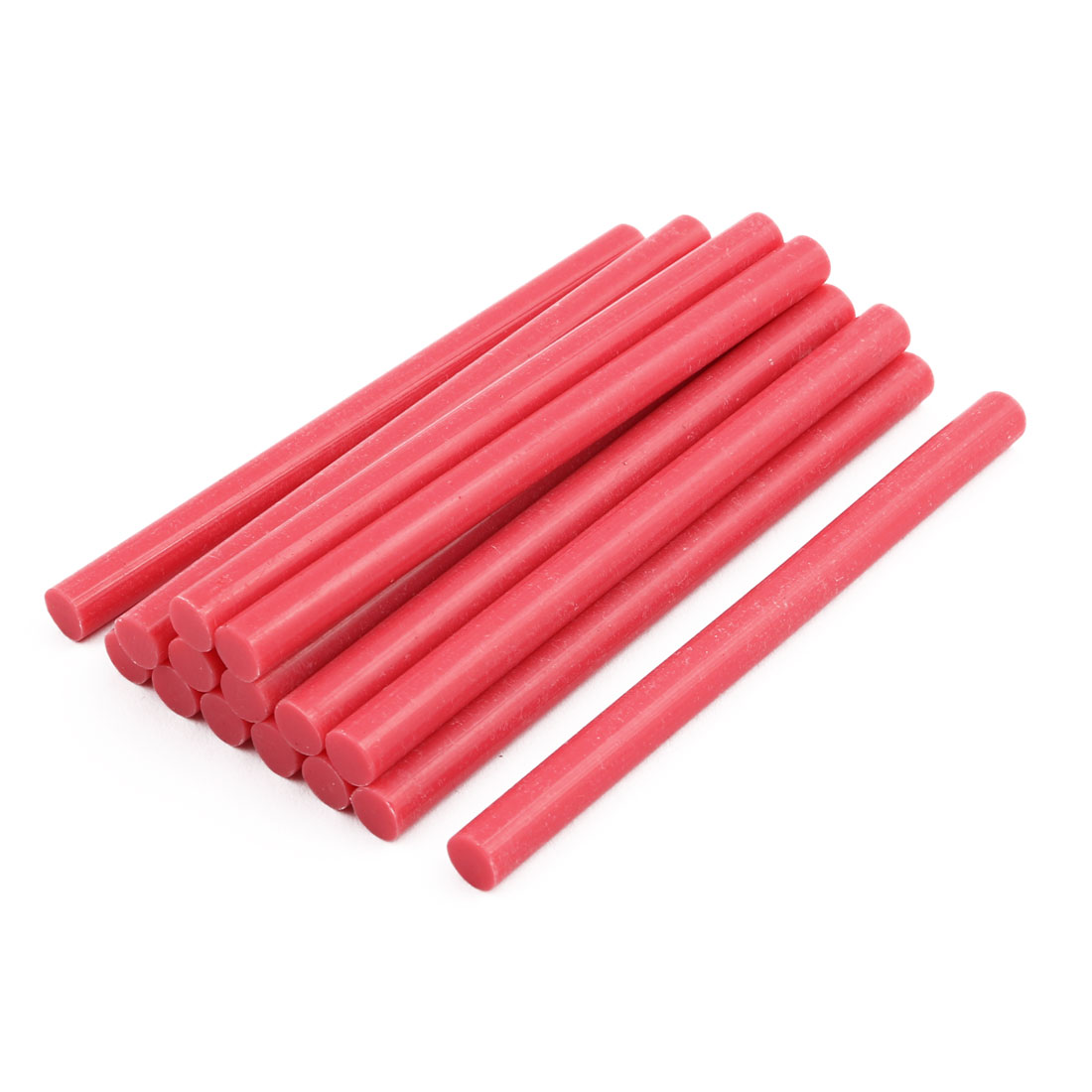 7mmx100mm Heating  Hot Melt Glue Craft Model Adhesive Stick Pink 15pcs