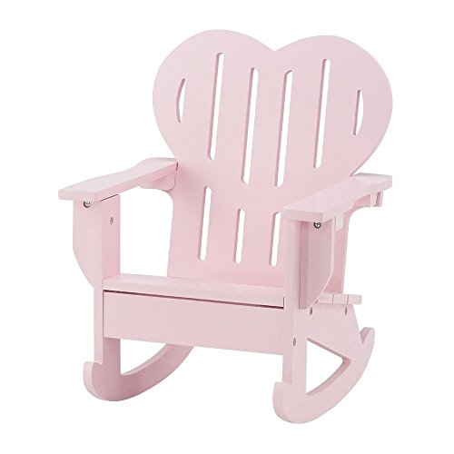 18 Inch Doll Furniture | Pink Outdoor Adirondack Rocking Chair With Heart  Shaped Back | Fits