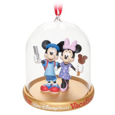 Disney Parks Mickey Minnie Vacation Dome Christmas Holiday Ornament New w Tags - Mickey And Minnie Ornaments