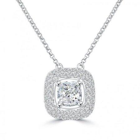 Harry Chad Enterprises 21915 1.25 CT Diamond Ladies Pendant Necklace - 14K Gold White - image 1 of 1