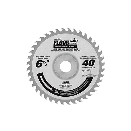 Amana Floor King Carbide Tipped Saw Blade 6-1/2-Inch X 40T Comparable To Crain 821