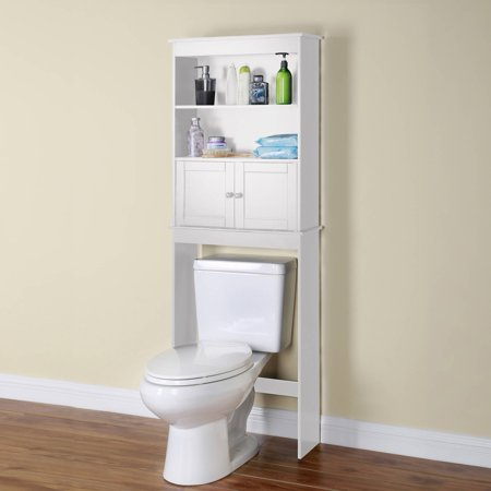 Over The Toilet Space Saver White Best Bathroom Shelves