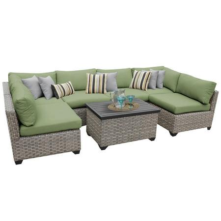 Hampton 7 Piece Outdoor Wicker Patio Furniture Set