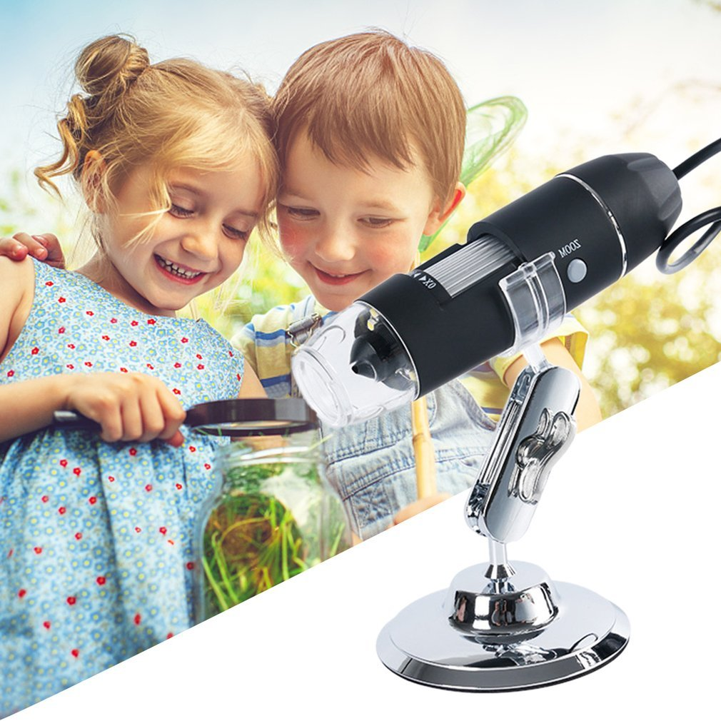 NEW 1600X HD Digital Microscope Magnifier Handheld USB Microscope with Metal Stand