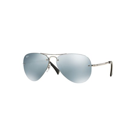 RB3449 59MM Mirrored Semi-Rimless Aviator Sunglasses ()